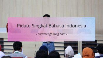 Contoh Pidato Singkat Bahasa Indonesia