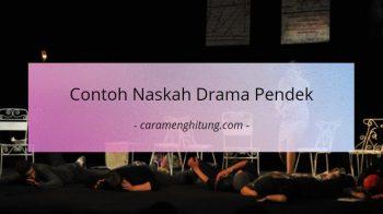 Contoh Teks / Naskah Drama Pendek 6 Orang